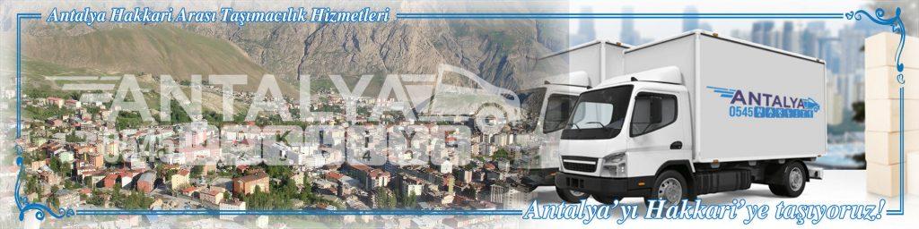 Antalya Hakkari Arası Çalışan Nakliyat Firmaları Evden Eve Taşımacılık