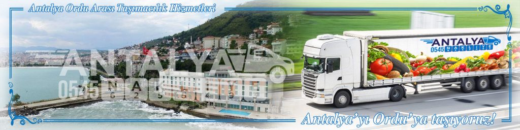 Antalya Ordu Arası Çalışan Nakliyat Firmaları Evden Eve Taşımacılık